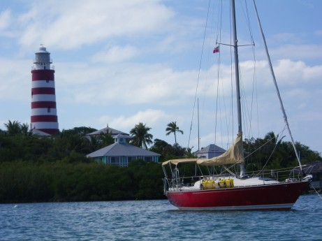 Changes anchored at Hopetown, Abacos, Bahamas