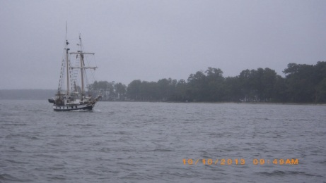 Schooner Meka II we passed in Adams Creek