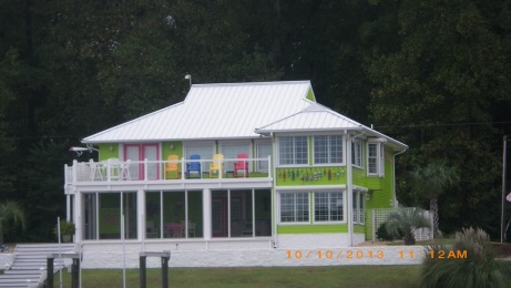 House we passed in Adams Creek, on way to Morehead City, NC
