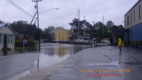 Oriental, NC flooded near Town Dock