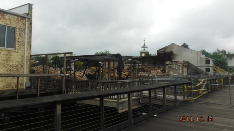 View of the results of Fire in Georgetown, SC historic District