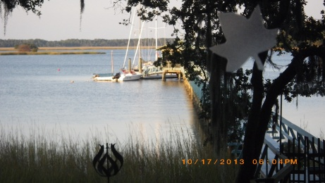 View of Butler's dock from house.