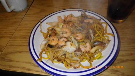 Shrimp noodles at Fiji Restaurant