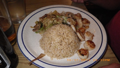 Scallops with fried rice