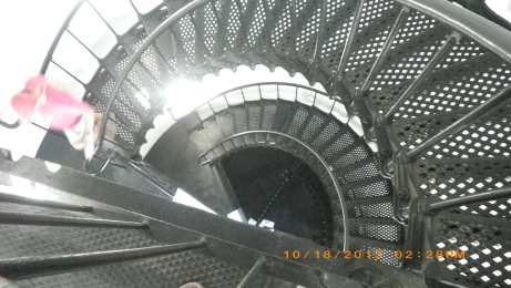 Stairs inside Lighthouse and landings