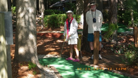Judy and Stephen at Putt Putt Golf