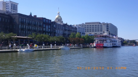 Savannah Riverfront from ferry
