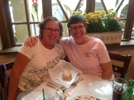 Jan E. stein and Lorraine Dolsen at Columbia Restaurant