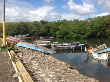 There are boats for the locals in Luperon, DR  They rest on the bottom at low tide.