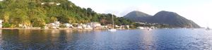 Continuing further south Harbor in Roseau, Dominica