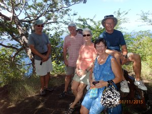 Bob, Rick, Jeanne, Lorraine and Phil.  Peggy took the picture.