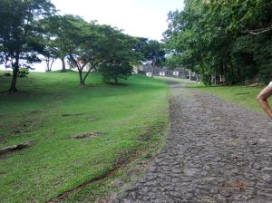 The road/path up to Fort Shirley