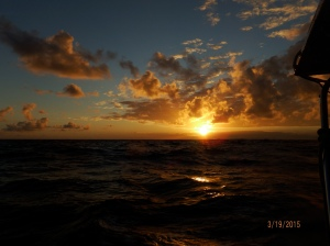 Sunset on way to Samana
