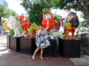Lorraine in Lions in main Square of Ponce, PR