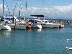 Changes at dock at Maria de Puerto Bahia, Samana, DR